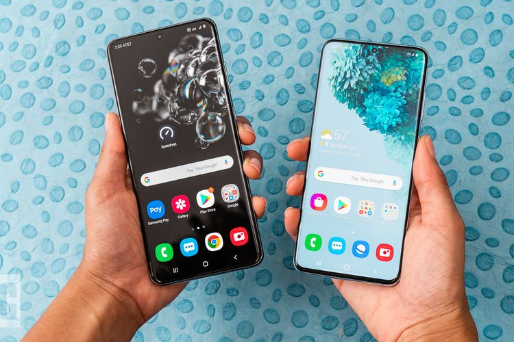 ilustrasi smartphone Samsung