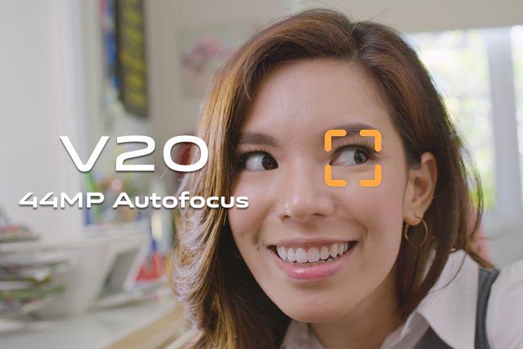 Fitur Autofocus pada kamera selfie Vivo V20