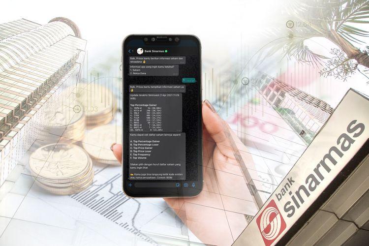 Bank Sinarmas menghadirkan fitur asisten virtual Prissa untuk nasabah.