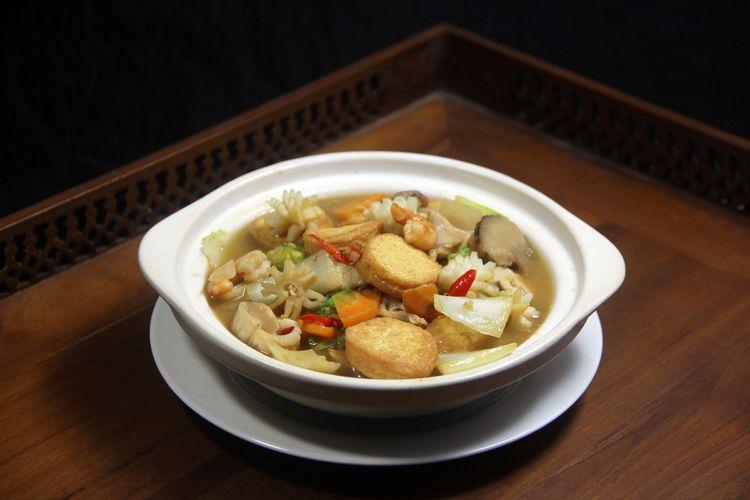 Ilustrasi sapo tahu, kuliner khas China yang populer di Indonesia.