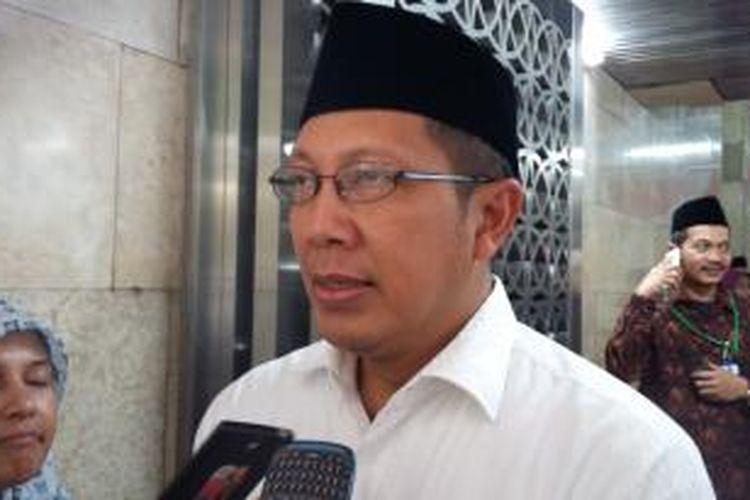 Menteri Agama Lukman Hakim Saifuddin, saat ditemui di Masjid Istiqlal, Jakarta Pusat, Kamis (22/10/2015).