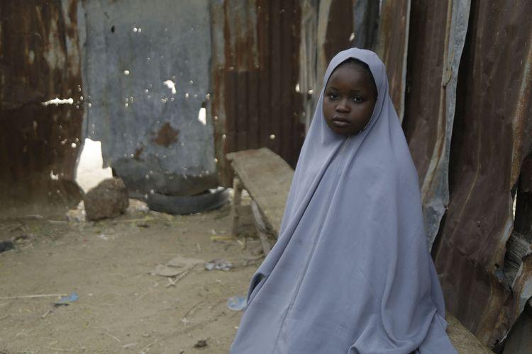 Amtallahi Lawal, salah satu murid di SMP Sains Putri di Jangebe, yang berhasil lolos dari penculikan pada 26 Februari 2021 setelah bersembunyi di kamar tidurnya. Sebanyak 279 murid yang disekap selama sekitar empat hari dibebaskan oleh kelompok bersenjata.