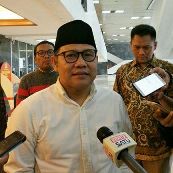 Ketua Umum Partai Kebangkitan Bangsa (PKB) Muhaimin Iskandar di kompleks parlemen, Jumat (25/1/2019).