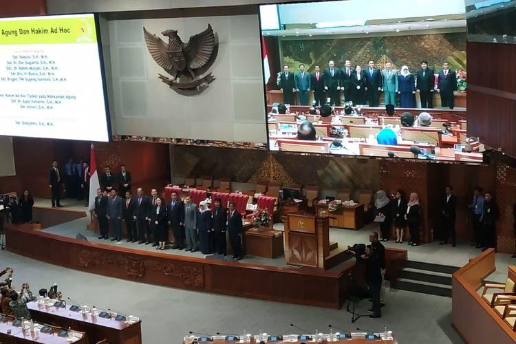 Pengesahan Calon Hakim Agung dan Hakim Ad Hoc di Rapat Paripurna DPR, Senin (3/2/2020)