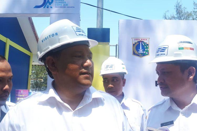 Kepala Dinas Sumber Daya Air (SDA) Juaini di Pulau Payung, Kepulauan Seribu, Rabu (20/11/2019)