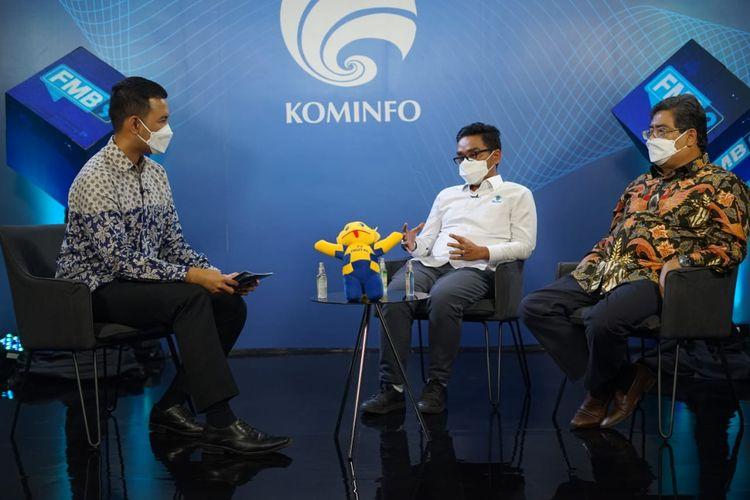 Diskusi Media (Dismed) Forum Merdeka Barat 9 (FMB9) yang digelar secara virtual bertajuk Strategi Indonesia Meraih Investor, Senin (14/6/2021). (Tangkapan Layar)