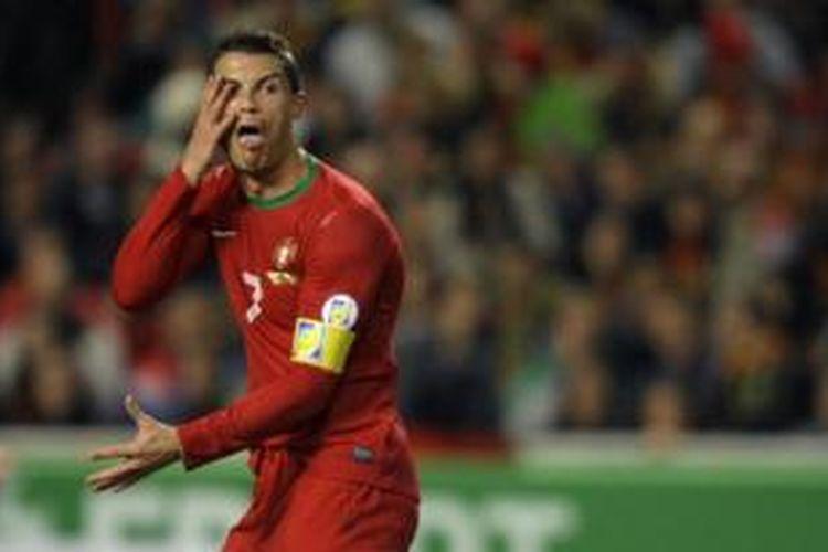 Striker tim nasional Portugal, Cristiano Ronaldo.