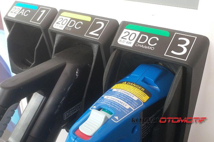 Charging station milik BPPT untuk kendaraan listirik.