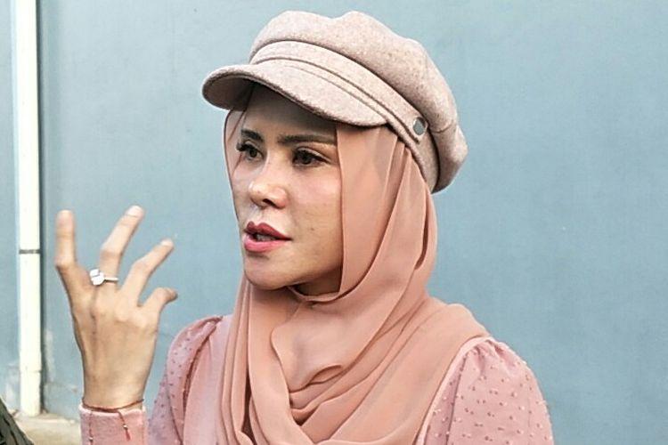 Angel Lelga usai menjadi bintang tamu di kawasan Tendean, Jakarta Selatan, Senin (27/1/2020)