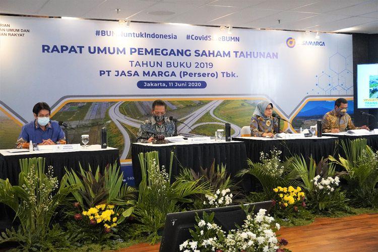 Rapat Umum Pemegang Saham Tahunan (RUPST) Jasa Marga, Kamis (11/6/2020).