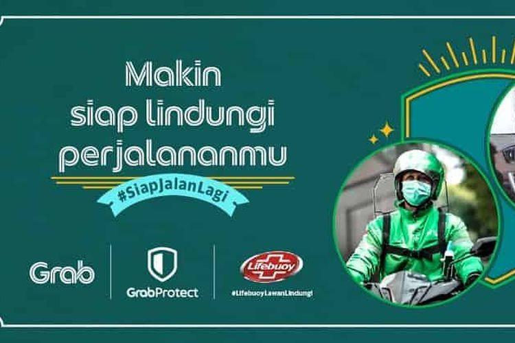 Grab kerja sama dengan Unilever Indonesia lewat brand Lifebuoy untuk menyediakan hand sanitizer untuk armada Grab.
