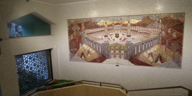 Salah satu spot dalam Masjid Ammar & Osman Ramju Sadick Islamic Center Hongkong.