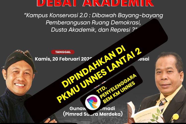 Poster acara debat akademik Unnes