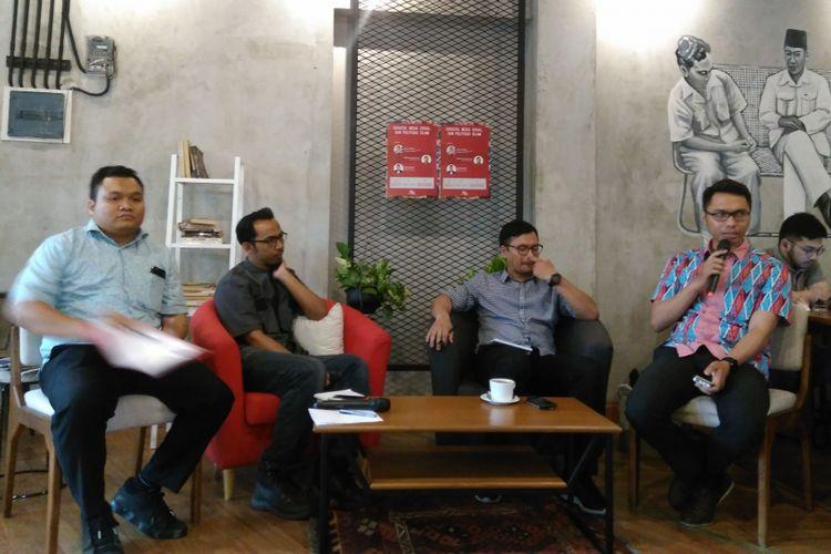 Diskusi publik dengan tema Saracen, Media Sosial, dan Politisasi Islam di Jakarta, Selasa (29/8/2017).