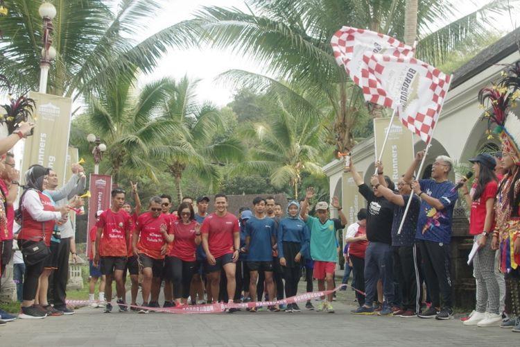 Salah satu acara pre-event Borobudur Marathon dengan fun run sejauh 4,16 KM pada Minggu (6/10/2019).
