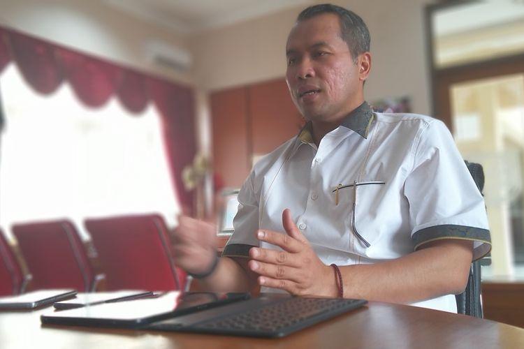 Bupati Wonogiri, Joko Sutopo memberikan pernyataan terkait perkembangan penanganan kasus corona, Sabtu (21/3/2020).