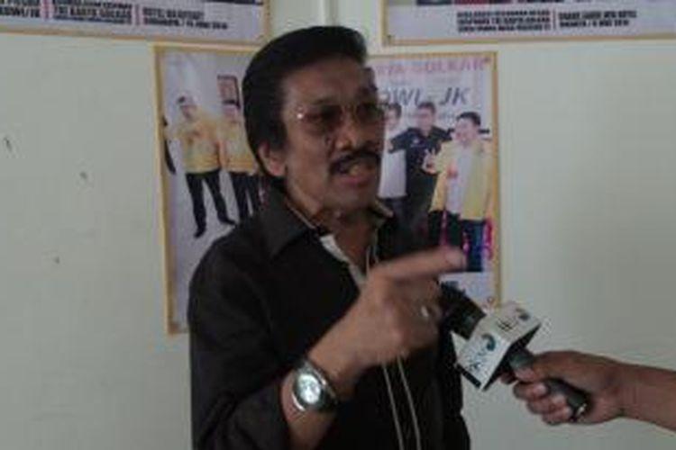 Wakil Ketua Dewan Pertimbangan MKGR, Zainal Bintang di Sekretariat Tri Karya, Jakarta, Jumat (11/7/2014).
