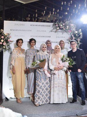 Peluncuran koleksi eksklusif Ria Miranda dan Khanaan dalam Zalora Private Trunk Show di Jakarta (3/5).