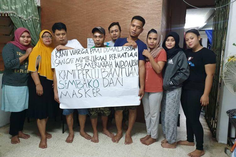 Pekerja migran asal Indonesia di Malaysia berharap bantuan pemerintah, Kamis (26/3/2020).
