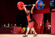 Lifter China Li Fabin, Berdiri dengan Satu Kaki untuk Pecahkan Dua Rekor Olimpiade