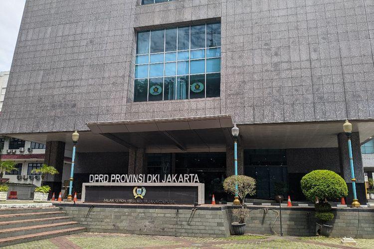 Gedung DPRD DKI Jakarta, Kebon Sirih, Jakarta Pusat, Senin (4/1/2021)