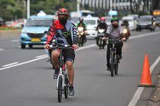 Pesepeda Keluar Jalur di Jalan Sudirman-Thamrin, Bisa Kena Sanksi Rp 100.000