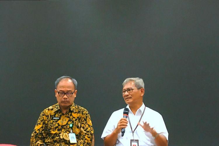 Juru bicara pemerintah untuk penanganan virus corona Achmad Yurianto dalam konferensi pers di Kantor Kemenkes, Kuningan, Jakarta Selatan, Selasa (3/3/2020).