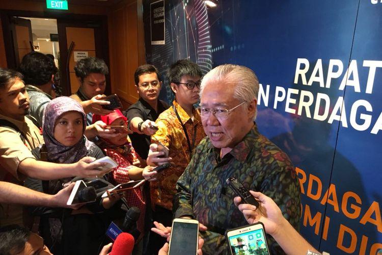 Menteri Perdagangan Enggartiasto Lukita saat Rapat Kerja Kementerian Perdagangan di Hotel Borobudur, Jakarta Pusat, Jumat (2/2/2018).