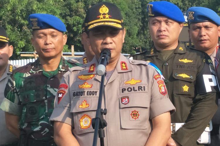 Kapolda Metro Jaya Inspektur Jenderal Gatot Eddy Pramono di Polda Metro Jaya, Jakarta Selatan, Rabu (23/10/2019).