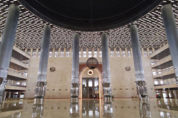 Kondisi Masjid Istiqlal setelah direnovasi, Jumat (8/1/2021).