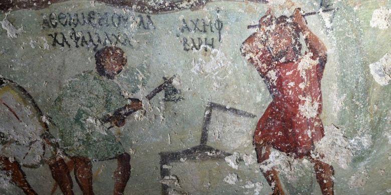 Lukisan gua di Yordania mirip komik