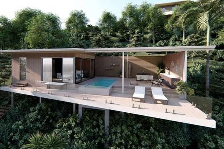 Desain vila ramah lingkungan yang ditawarkan oleh Selo Group