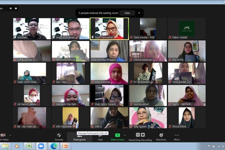 Webinar ?Refleksi Pendidikan Indonesia di antara PJJ dan PTM? yang diadakan Faber-Castell pada Sabtu, 5 Juni 2021.