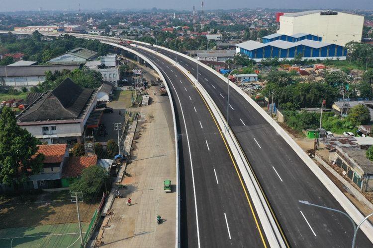 Jalan Tol BORR Seksi 3A Simpang Yasmin-Semplak.