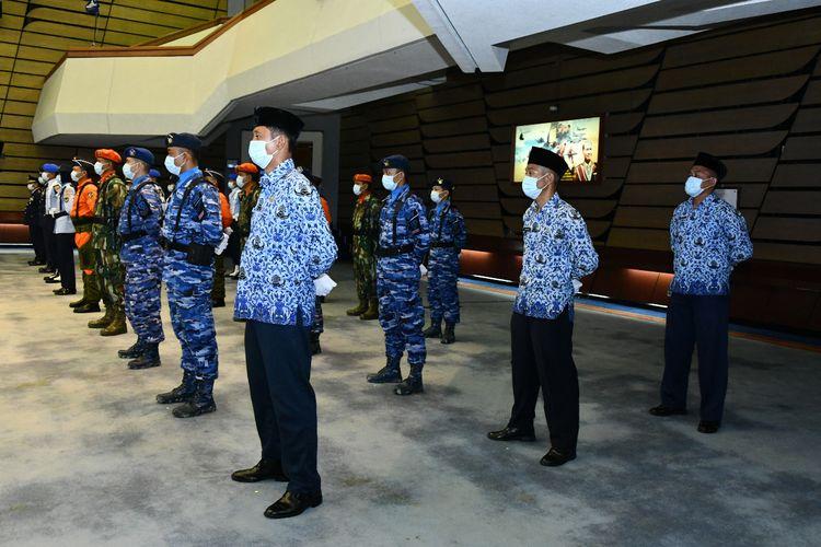 Perayaan HUT ke-74 TNI AU di Gedung Auditorium Denma Mabesau Cilangkap, Jakarta Timur, Kamis (9/4/2020).