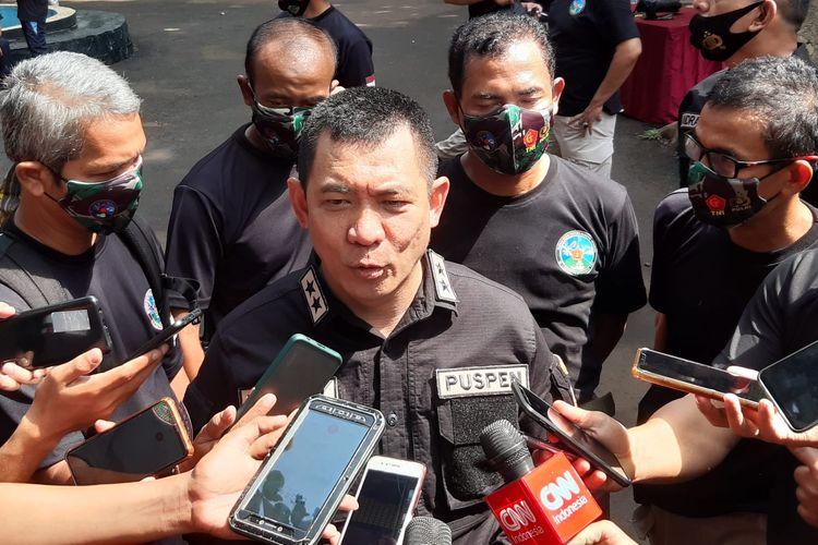 Kapuspen TNI Mayjen TNI Achmad Riad di Mabes TNI, Cilangkap, Jakarta Timur, Jumat (13/11/2020).