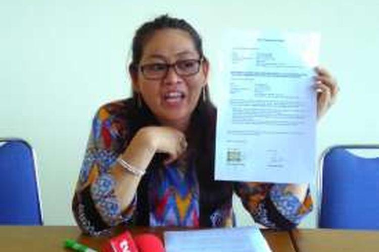 Direktur LBH APIK Ratna Bantara Mukti di Kantor LBH APIK, Jakarta, Jumat (19/2/2016).