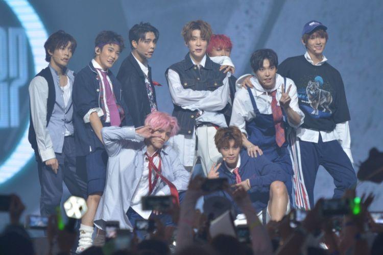NCT 127 buka Music Bank in Jakarta di JIExpo Kemayoran, Jakarta Pusat, Sabtu (2/9/2017) malam.