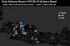 Ini Peta Sebaran Virus Corona di Jawa Barat, Kasus ODP Dominan di Kota Bandung dan Karawang
