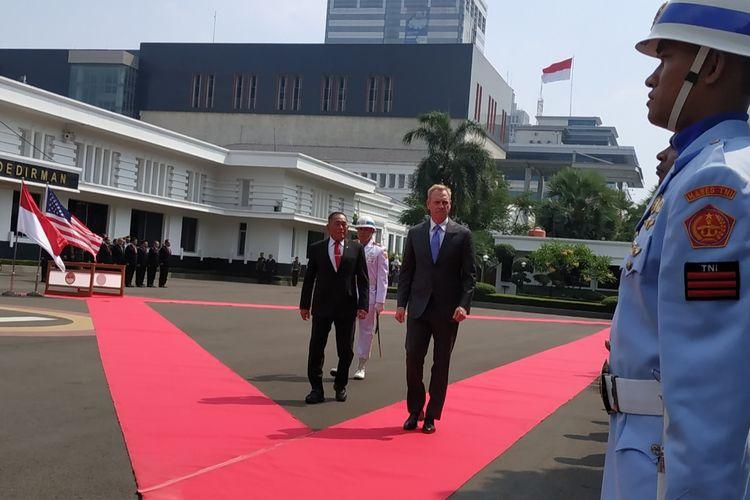 Menteri Pertahanan Republik Indonesia Ryamizard Ryacudu menerima kunjungan Pelaksanaan tugas Menteri Pertahanan Amerika Serikat Patrick Michael Shanahan