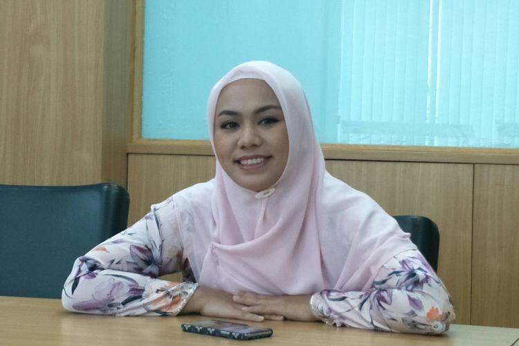 Anggota DPRD DKI dari Fraksi PAN Zita Anjani di Gedung DPRD DKI Jakarta, Jalan Kebon Sirih, Senin (9/9/2019). Zita ditunjuk menjadi wakil ketua DPRD DKI oleh partainya.