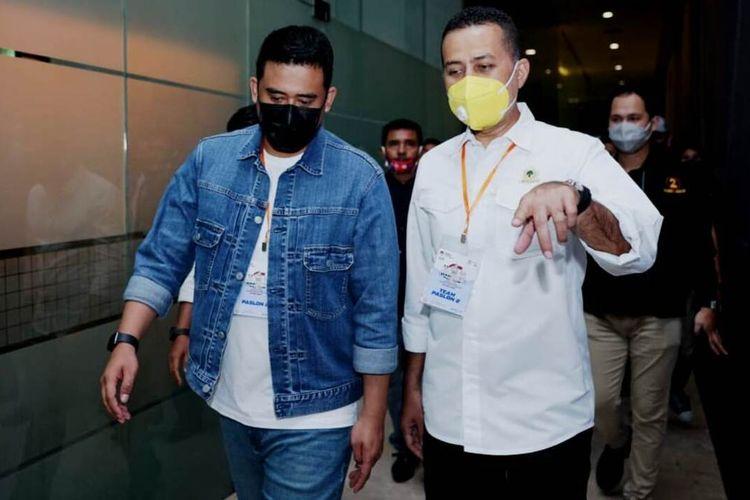 Ketua DPD Partai Golkar Sumut Musa Rajeckshah mengambil cuti dari jabatannya sebagai wakil gubernur khusus untuk mendampingi Bobby Nasution menjalani debat publik terakhir di Hotel Aston Medan, Sabtu (5/12/2020)