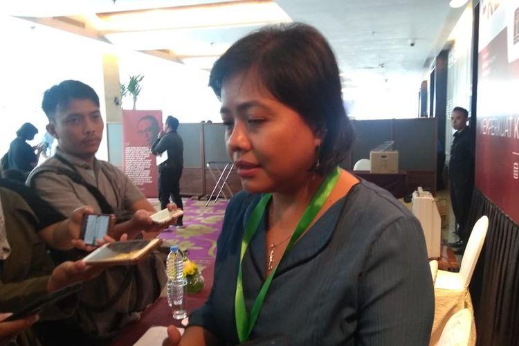 Pakar hukum tata negara, Bivitri Susanti, dalam Konferensi Nasional Hukum Tata Negara di Hotel JS Luwansa, Kuningan, Jakarta Selatan, Rabu (4/9/2019).