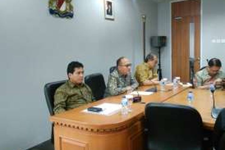 Konferensi pers pelaku usaha Kadin Indonesia dan APINDO menanggapi rencana Aksi 212, Jakarta, Selasa (29/11/2016).