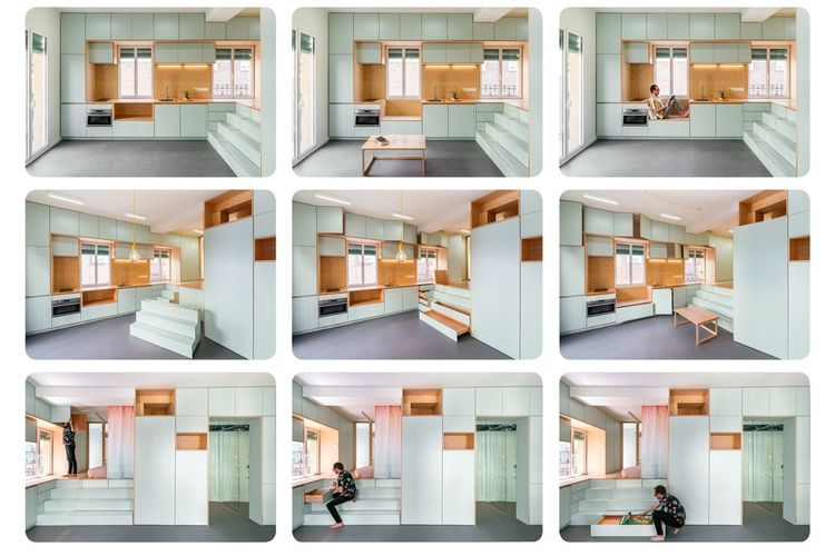 Desain Inspiratif Rumah Mungil Kurang Dari 40 Meter Persegi Halaman All Kompas Com