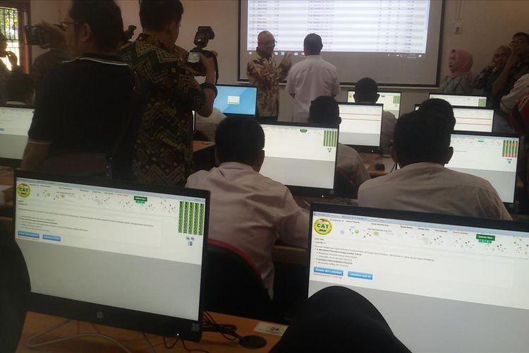 Stasiun Computer Assissted Test (CAT) di UPT BKN Pangkal Pinang yang diresmikan Rabu (14/8/2019).