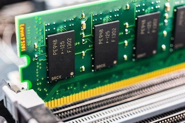 Ilustrasi memori RAM komputer.