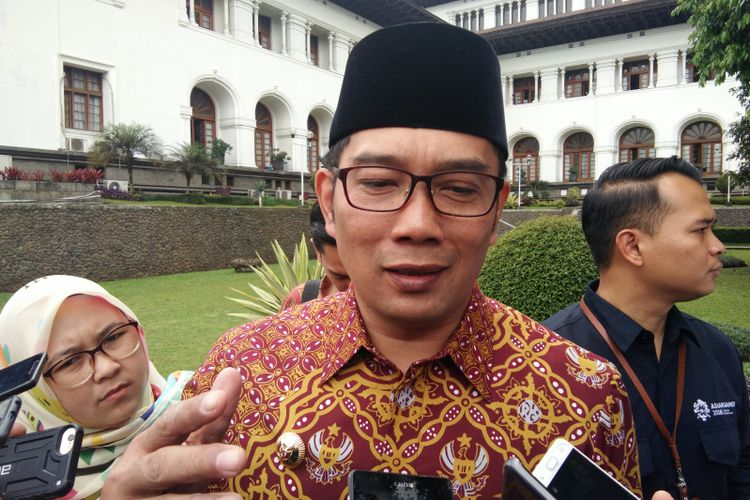 Gubernur Jawa Barat Ridwan Kamil saat ditemui di Gedung Sate, Jalan Diponegoro, Rabu (20/3/2019).