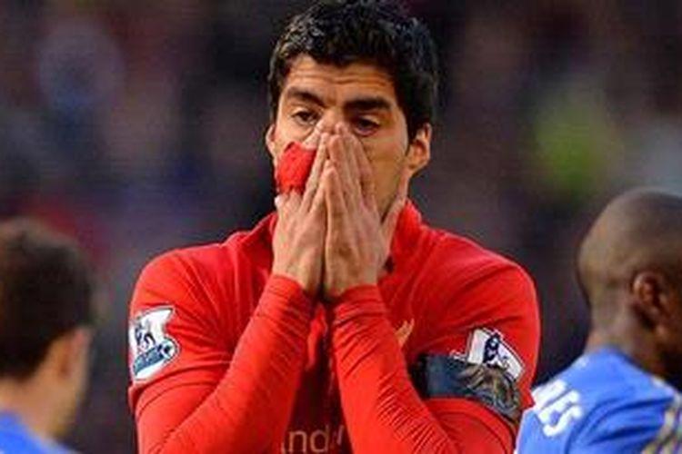 Penyerang Liverpool, Luis Suarez.