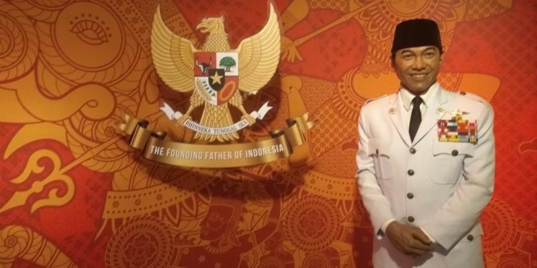 Patung lilin Presiden Soekarno di Madame Tussauds Bangkok, Thailand.